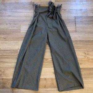 Zara Wide Leg plaid Pant